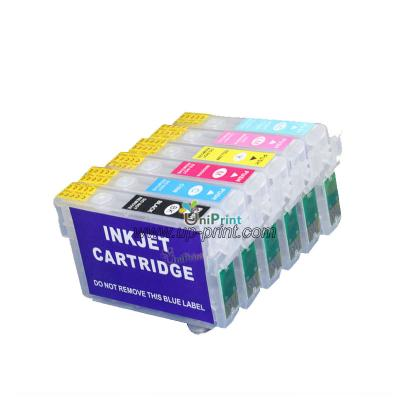 81N T0811N refillable ink cartridge for Epson Stylus Photo TX700/TX800...