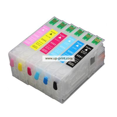 T05591 - T05596  refillable ink Cartridges with ARC chip for epson rx7...