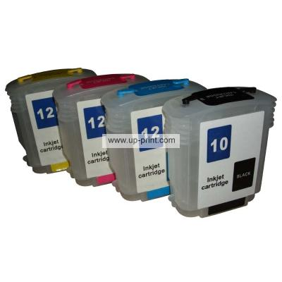 HP10 12(C4844A C4804A C4805A C4806A)  Refillable Ink Cartridges for HP...